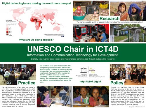 UNESCO Chair in ICT4D poster
