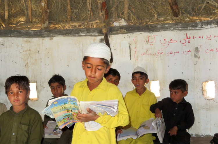 Boys at school in Tharparkar, Pakistan