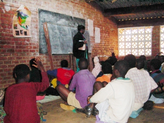 Malawi classroom bright